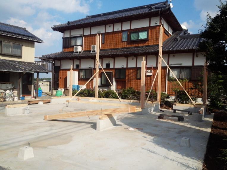 水戸市K様邸二階建て農業用倉庫新築工事